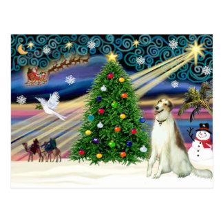 Christmas Magic Borzoi Postcard