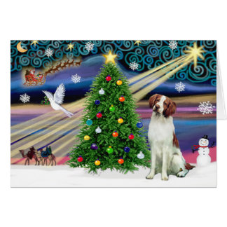 Christmas Magic Brittany Spaniel Card
