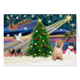 Christmas Magic Cairn Terrier Pup Card