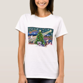 Christmas Magic Chinese Crested (two) T-Shirt