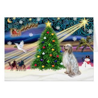 Christmas Magic English Setter Greeting Card