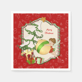 Christmas Magic Fairy Disposable Napkin