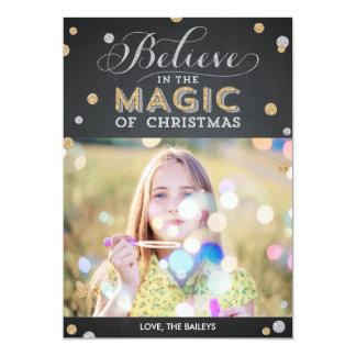 Christmas Magic Holiday Photo Cards - Chalkboard 13 Cm X 18 Cm Invitation Card