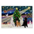 Christmas Magic Poodles - Standard (5) Card