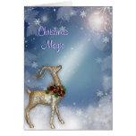 Christmas Magic Reindeer Greeting Card