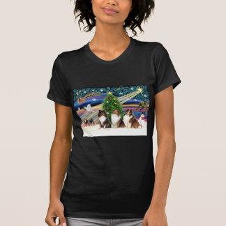 Christmas Magic Shetland Sheepdogs (three) T-Shirt