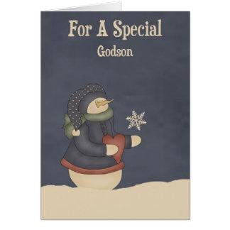 Christmas Magic Snowflake Godson Card