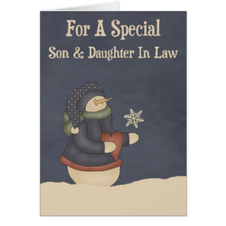 Christmas Magic Snowflake Son & Daughter In Law Greeting Card
