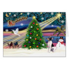 Christmas Magic Toy Fox Terrier Card