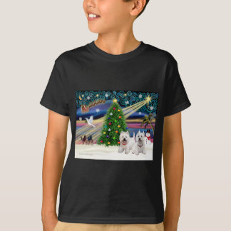 Christmas Magic West Highland Terrier (two) T-Shirt