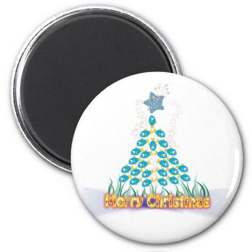 Christmas Magnets: Fish Christmas Tree
