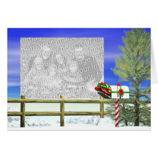 Christmas Mail (photo frame) Greeting Card