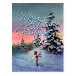 CHRISTMAS MAILBOX by SHARON SHARPE Post Card