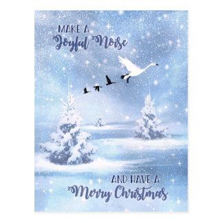 Christmas Make a Joyful Noise Snow Geese Postcard