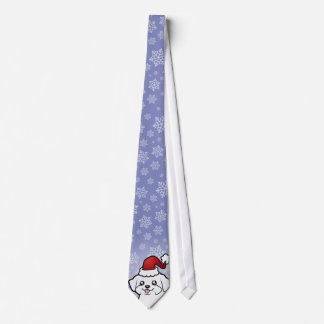 Christmas Maltese (puppy cut) Tie
