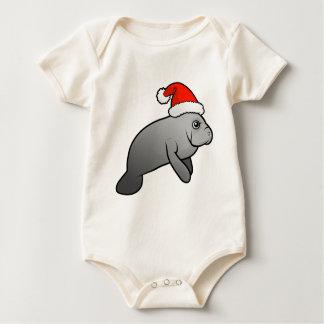 Christmas Manatee Santa Baby Bodysuit
