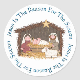 Christmas Manger / Jesus Reason Stickers