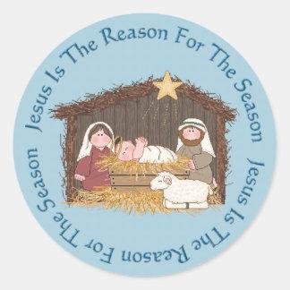 Christmas Manger Jesus Reason Stickers