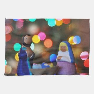 Christmas Manger Scene Tea Towel