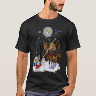 Christmas Mare and Colt T Shirt