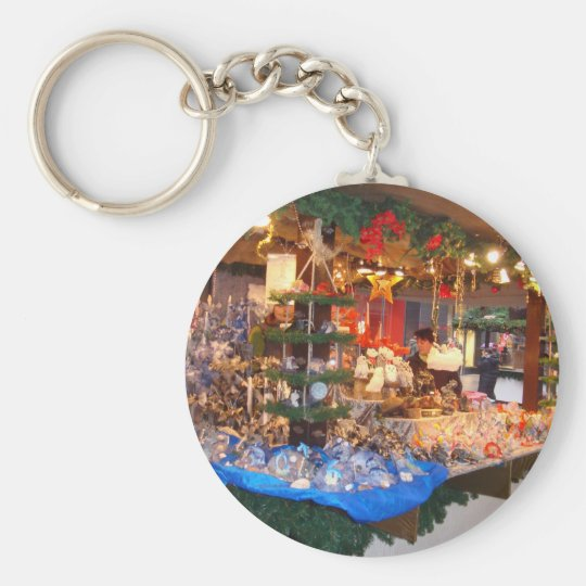 Christmas Market in Hamburg Basic Round Button Key