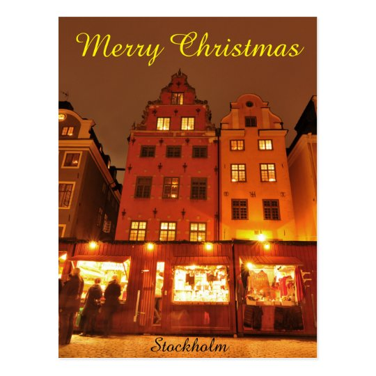 Christmas market in Stockholm, Sweden Postcard