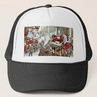Christmas Market Shopping Festive Scene Trucker Hat