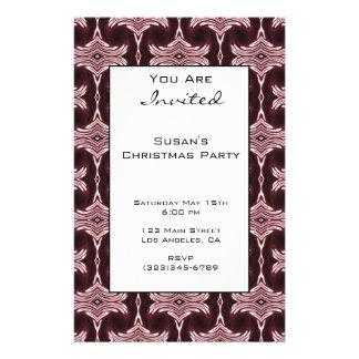 Christmas Maroon Art Deco Pattern 14 Cm X 21.5 Cm Flyer