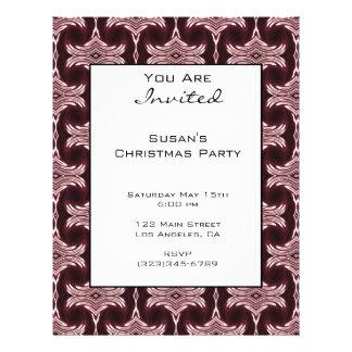 Christmas Maroon Art Deco Pattern Flyer Design