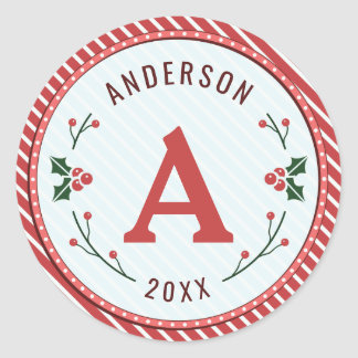 Christmas Marquee Monogram Stickers