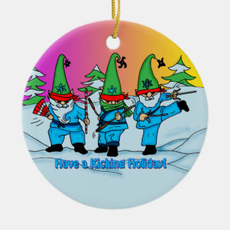 Christmas Martial Arts Elves Ornament