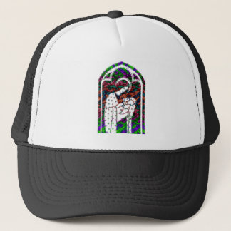 Christmas Mary and Baby Jesus Art Trucker Hat