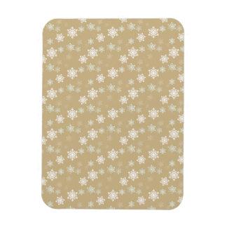Christmas Matte Gold Snow Flakes Flexible Magnet