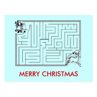 Christmas Maze Postcard