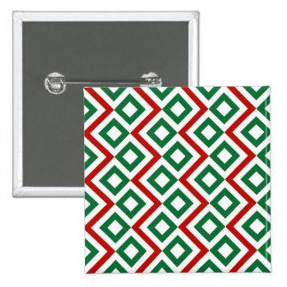 Christmas Meander 15 Cm Square Badge
