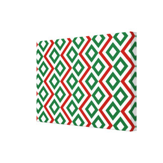 Christmas Meander Gallery Wrapped Canvas