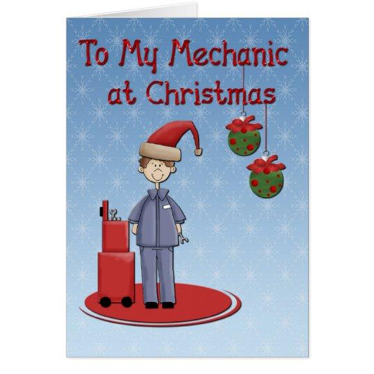 Christmas Mechanic Greeting Card