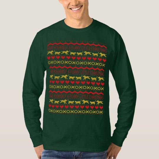 "Christmas Men's ""Ugly Sweater"" T-Shirt Long Sleeve"