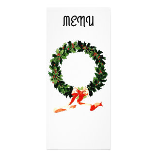 Christmas Menu 10 Cm X 23 Cm Rack Card