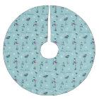 Christmas Merry Christmas, Snowflake, Bird Pattern Brushed Polyester Tree Skirt