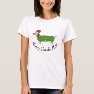 Christmas Merry Dachshund Sausage Dogs T-Shirt