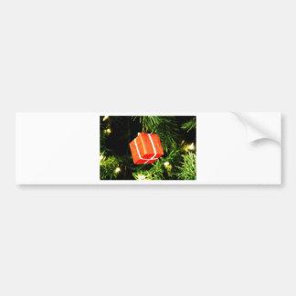 Christmas Merry Holiday Tree Ornaments celebration Bumper Sticker