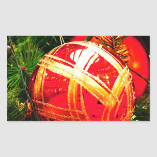 Christmas Merry Holiday Tree Ornaments celebration Sticker