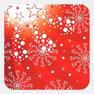 Christmas Merry Holiday Tree Ornaments celebration Square Sticker