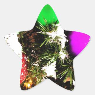 Christmas Merry Holiday Tree Ornaments celebration Star Sticker