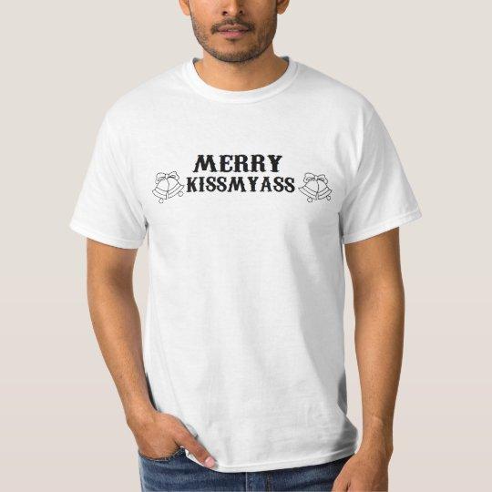 CHRISTMAS 'MERRY KISSMYASS' XMAS FUNNY T-Shirt