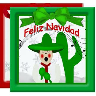 Christmas Mexican Caroler Man Greeting Card
