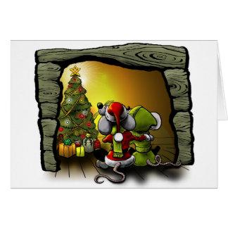 Christmas mice card