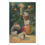 Christmas Mice Cross Stitch Poster