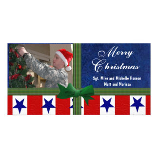 Christmas Military Custom Personalized Photo Card